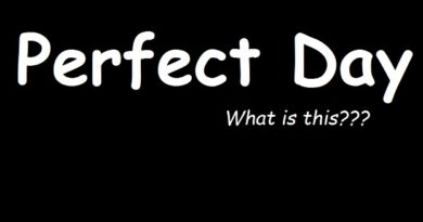 """What is a """"Perfect Day""""? Have you ever gave a thought? what is a perfect day for you share with us"""